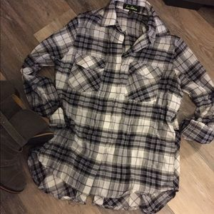 Sam Edelman Plaid Boyfriend Oxford Shirt
